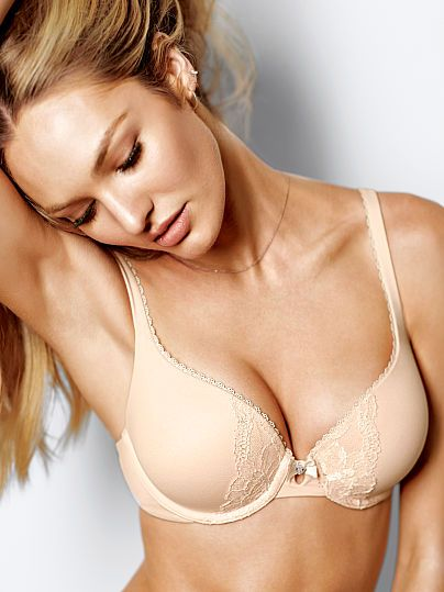88028612273c2 Perfect Shape Bra Body by Victoria in Champagne or Black or Black Dot Print  (36DDD)