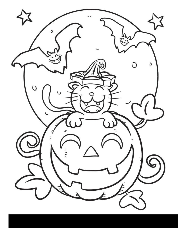 Cat Coloring Pages Halloween Idalias Salon