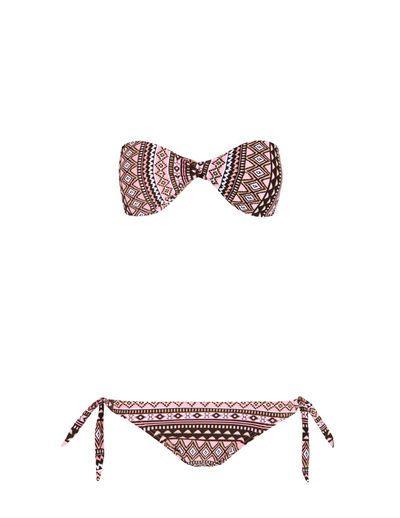 SuiteBlanco- Bikini cruzado étnico