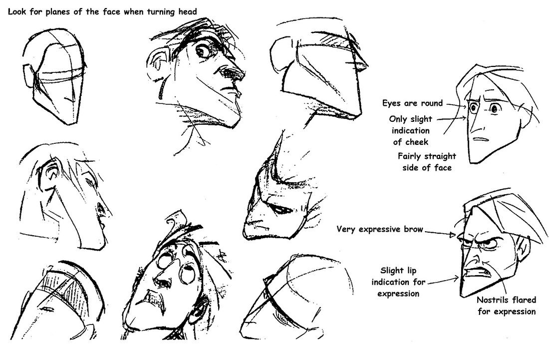 Tarzan © Walt Dysney Studios, Glen Keane design notes — Character design, development, concepts