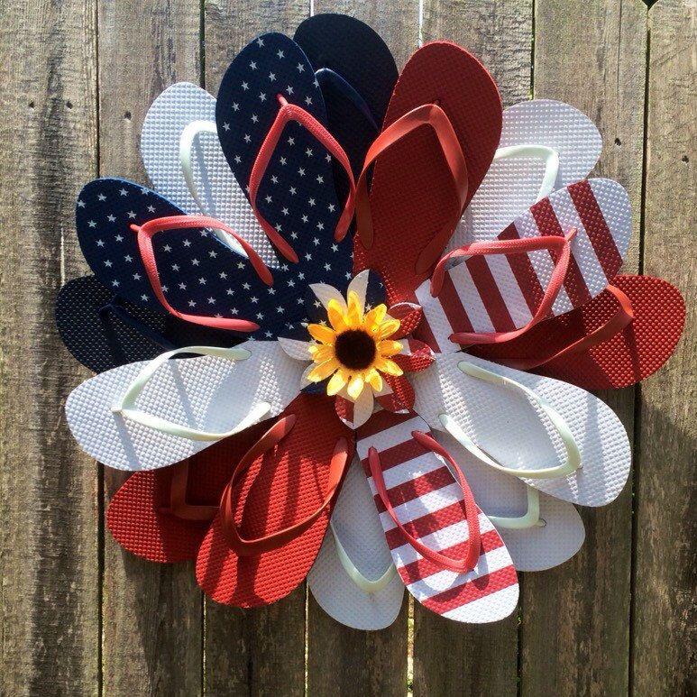 Flip Flop Wreath American Flip Flop Wreath American