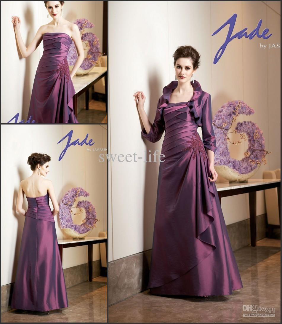 Wholesale mother of the bride dress buy vintage purple with