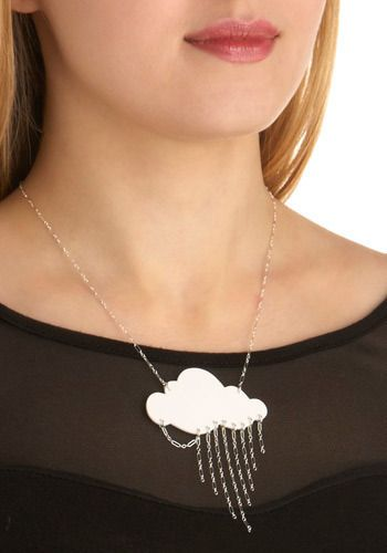 Elements of Nature Necklace in Air - White, Silver, Chain, Casual