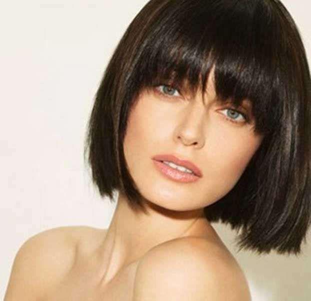 Taglio capelli corti con la frangia
