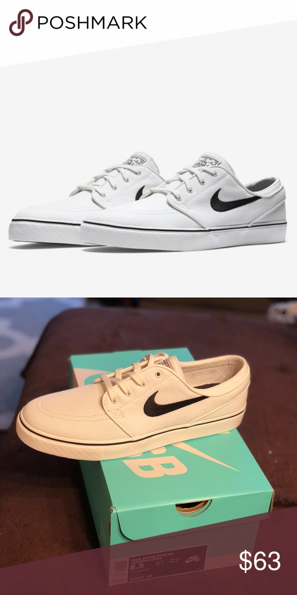new product ef549 f025b Nike SB Zoom Stefan Janoski Men s Canvas White Blk Brand New Still in Box.  Never worn, never even tried on. Comes in original nike box. Nike Shoes  Sneakers