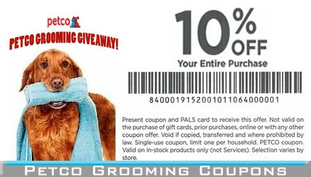 coupons for dog grooming at petco