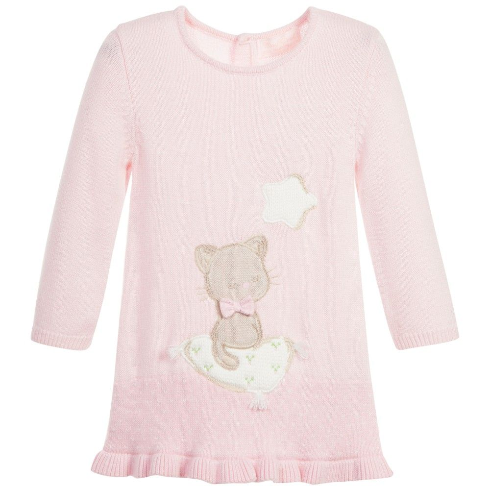 Mayoral Baby Girls Cute Little Bear Dress