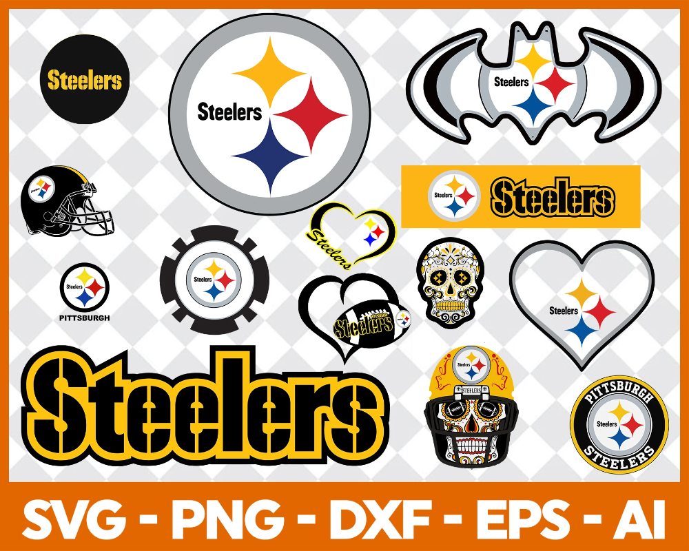 Pittsburgh Steelers Football Sports Vector SVG Logo in 5