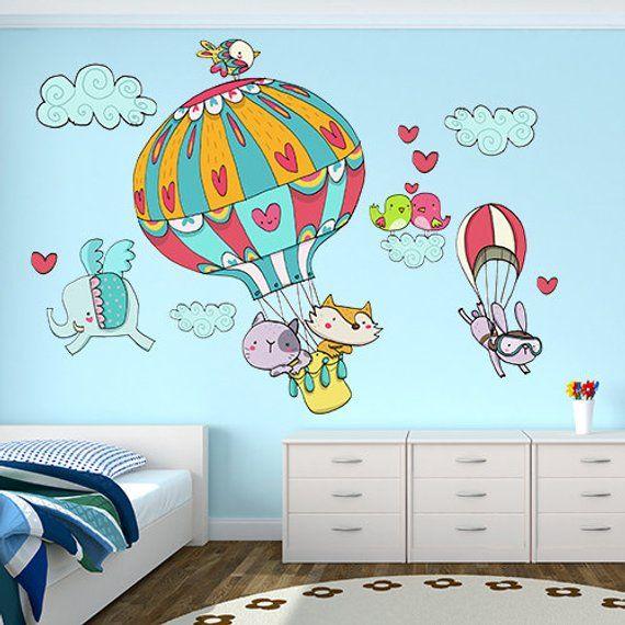 R00021 Adesivo murale per bambini stampato su carta da