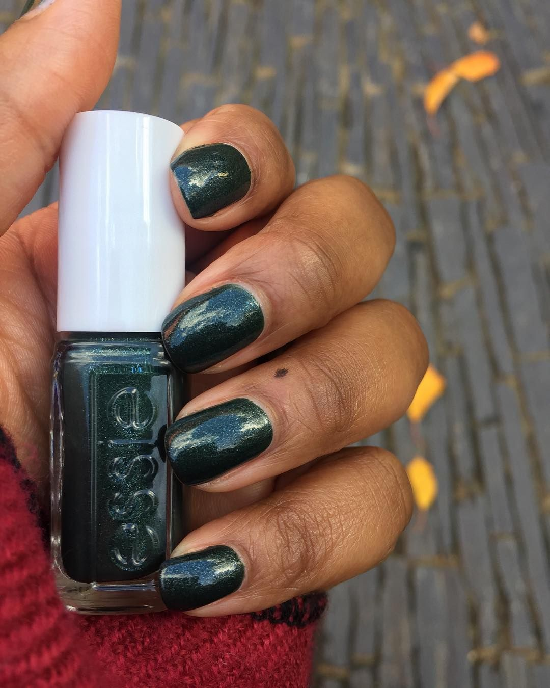 Essie Back In The Saddle On Dark Skin Green Nail Polish