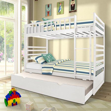 Home Bunk Beds For Boys Room Bunk Bed With Trundle Solid Wood Bunk Beds