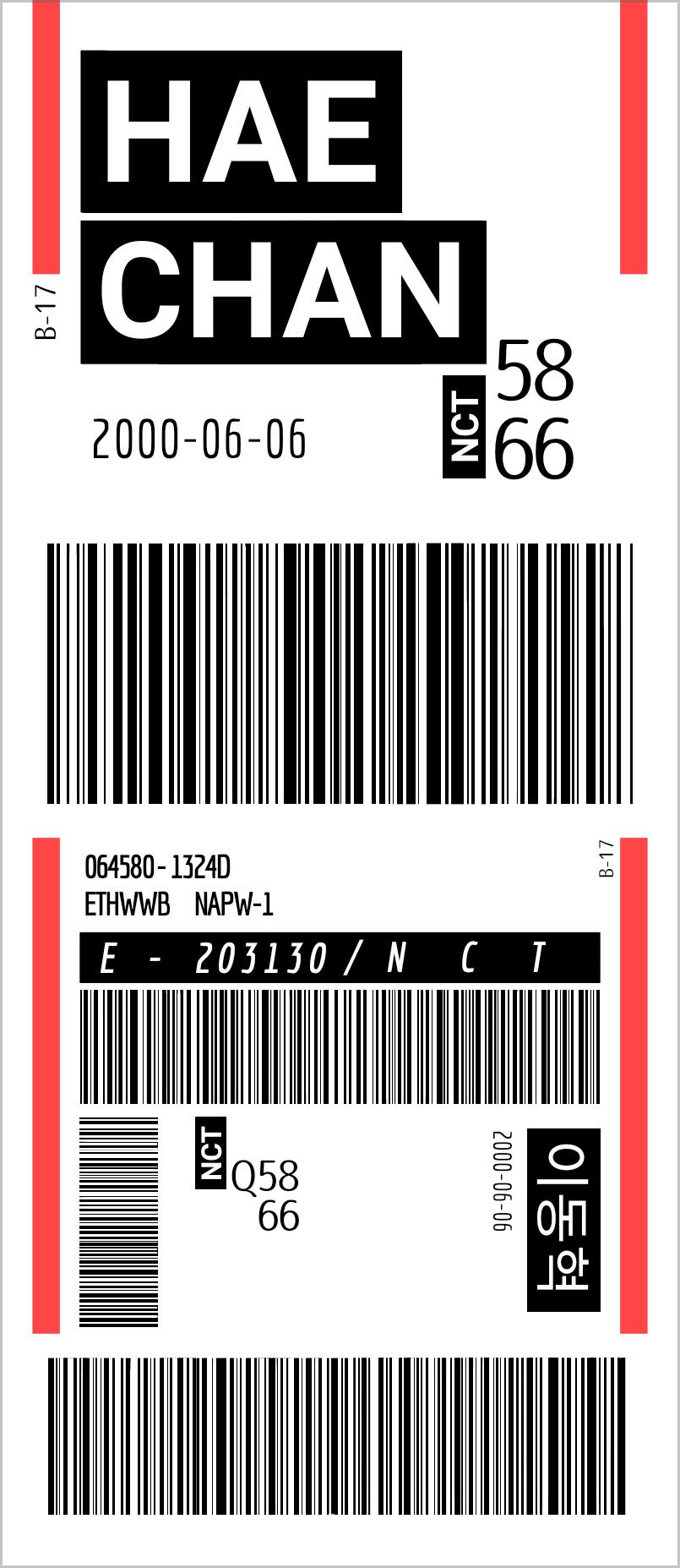 Nct Haechan Ticket Desain Wallpaper Ponsel