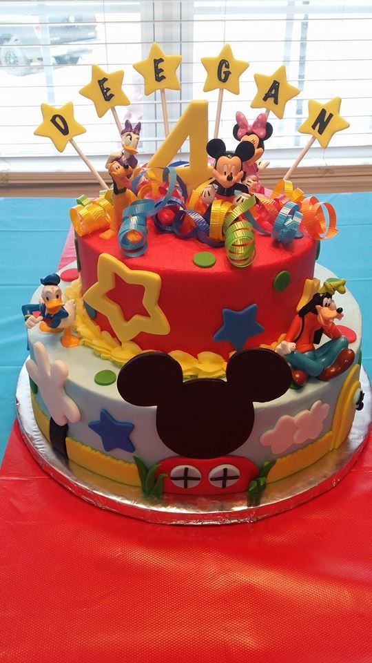 Excellent My Sisters Cake Creation For My Great Nephews Mickey Mouse Funny Birthday Cards Online Elaedamsfinfo