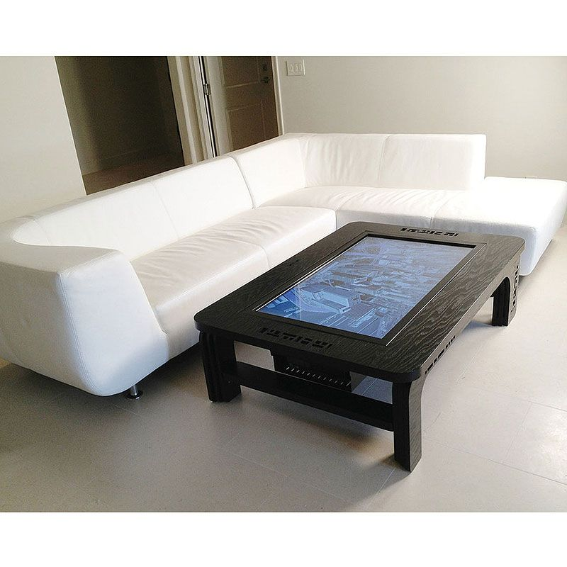 Contemporary Cappuccino Connect It Computer: Now This Is A Coffee Table! Mozayo M42-PRO Pro Series