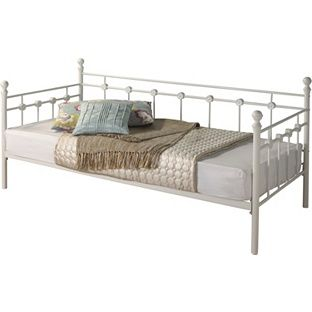 buy abigail metal single daybed frame white at argoscouk your