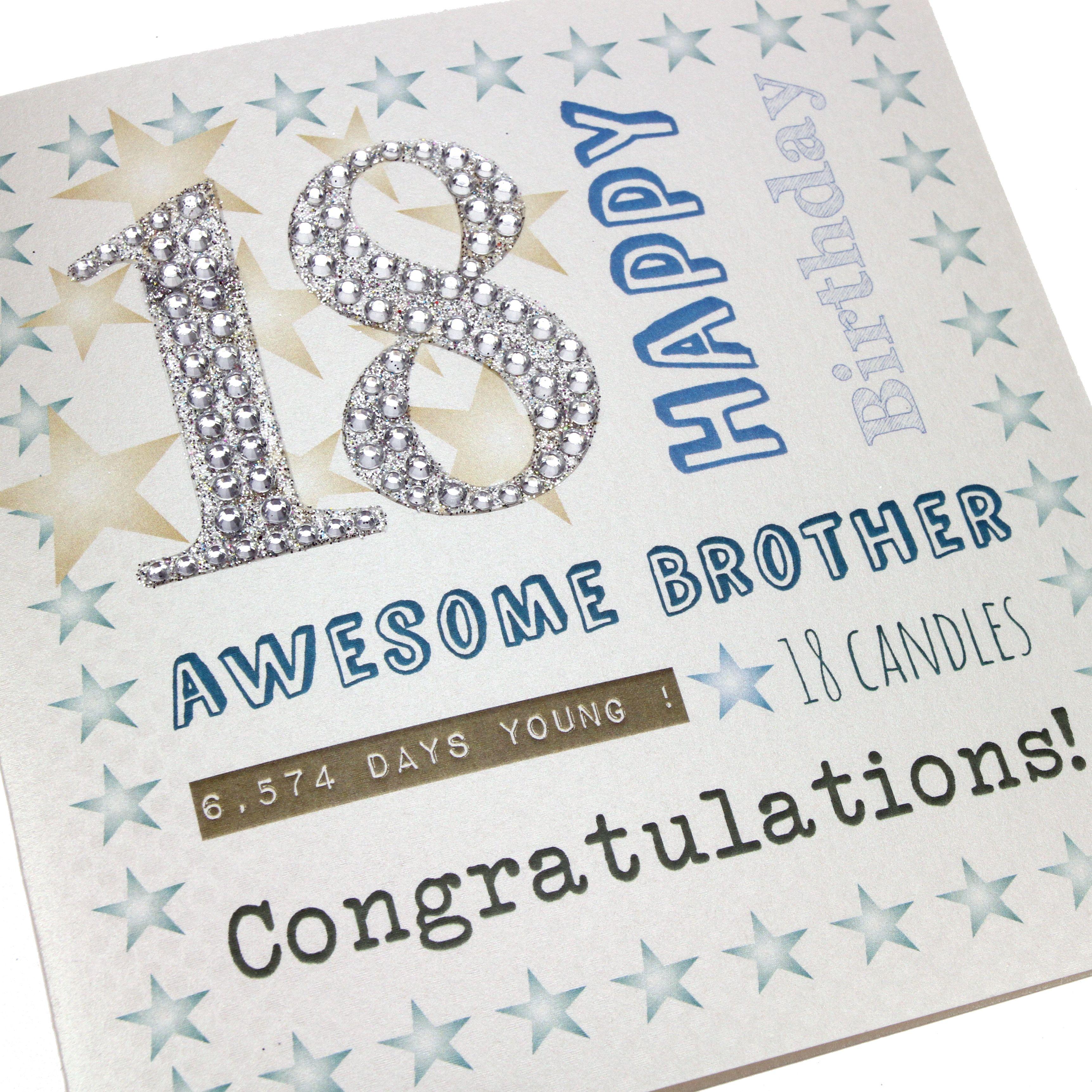 Daughter Sparkling /& Eighteen Large Handmade 18th Birthday Card Beautiful