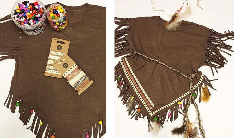 Fasnachtskostum Die Indianer Sind Los Do It Garden Blog Indianerin Kostum Indianer Kostum Kind Indianer Kostum Selber Machen