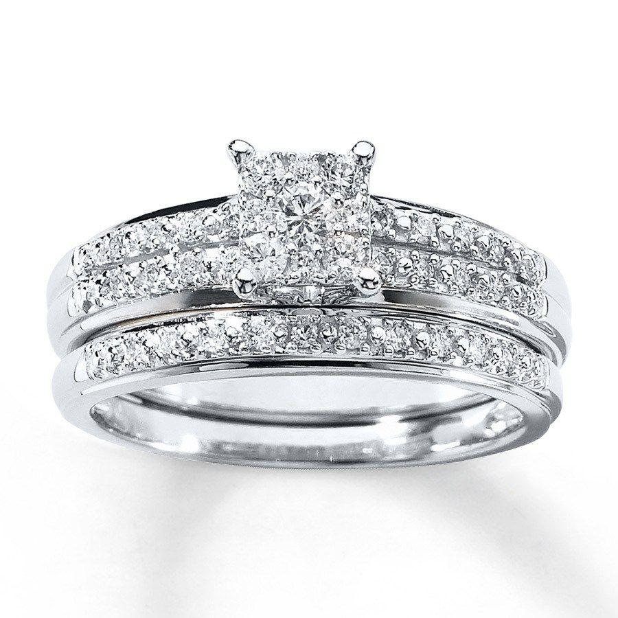 44 Inexpensive Diamond Wedding Ring Sets for You Kay