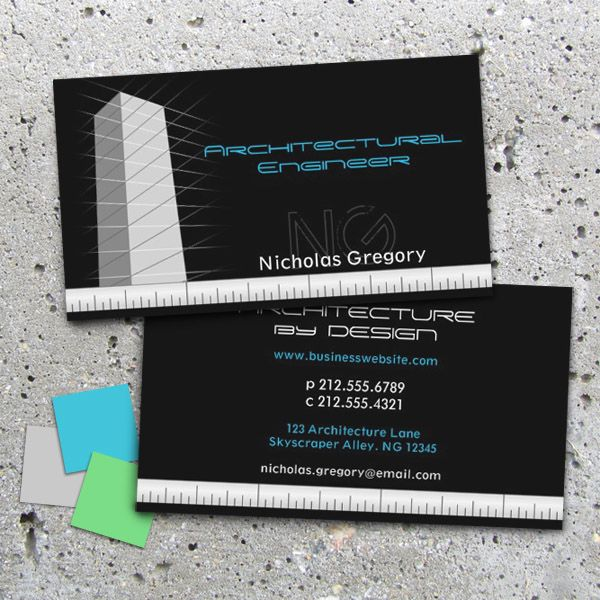 Architectural engineering black business cards business related architectural engineering black business cards reheart Gallery