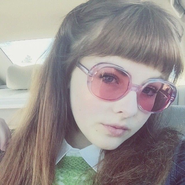 """""""My look today: 60s schoolgirl punker (if that's even a thing) #ootd #vintage #60s"""""""