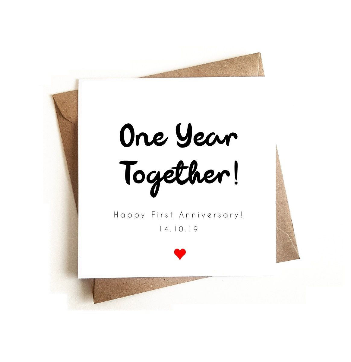 Personalised 1st Anniversary Card 1st Anniversary Cards Happy Anniversary Cards Anniversary Cards