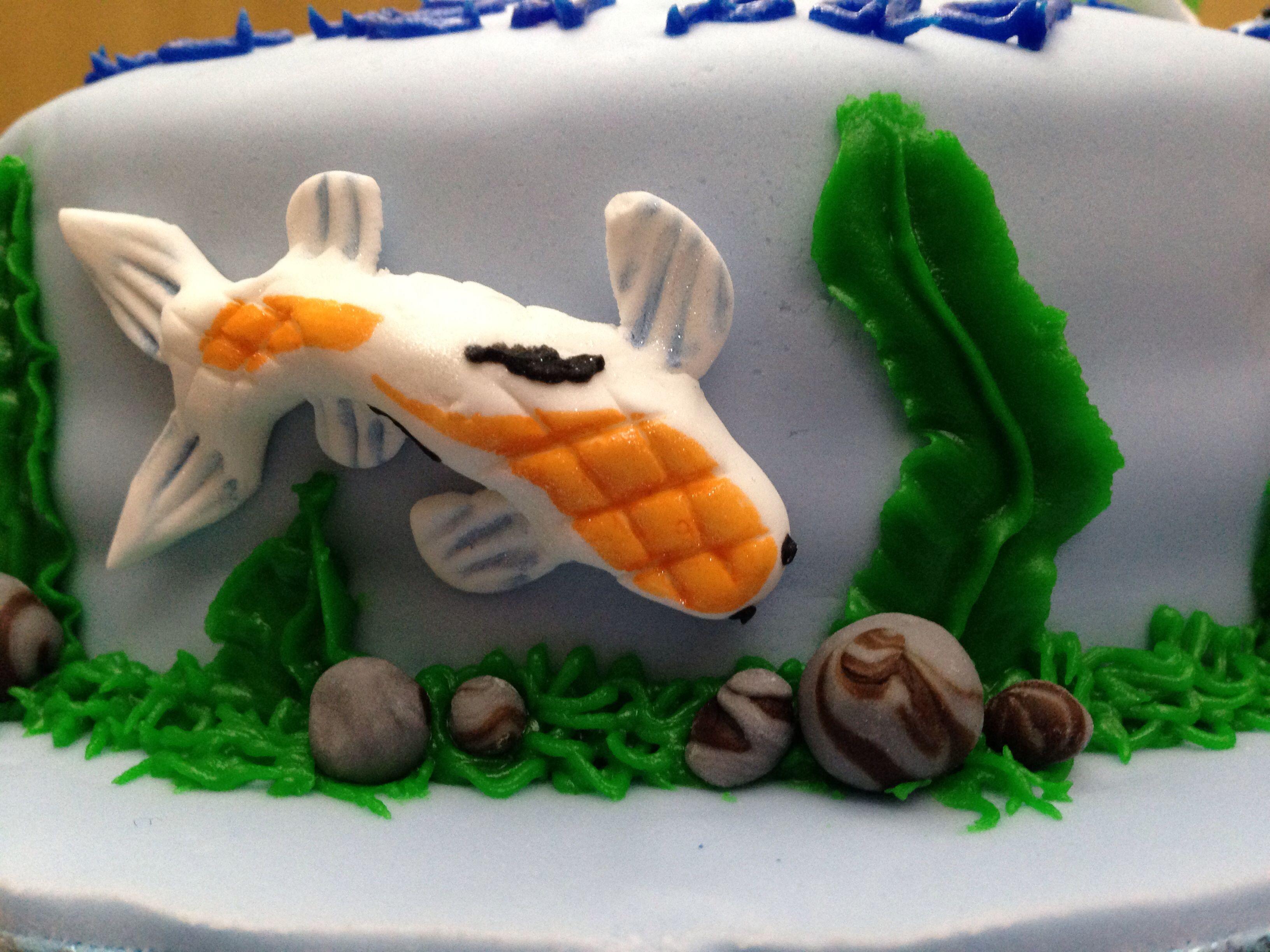 Koi on the cake