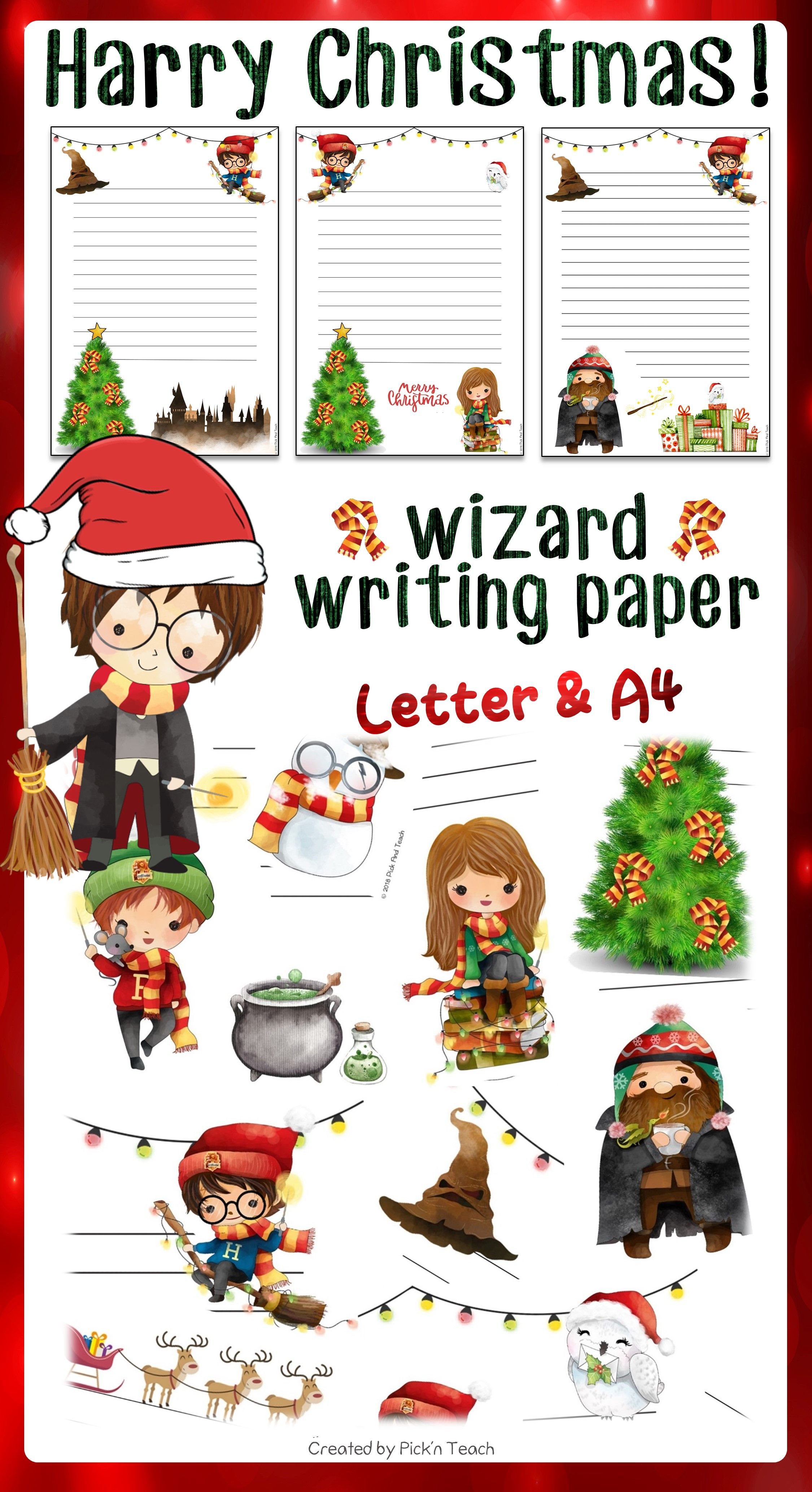 Christmas Writing Paper For Harry Potter Fans