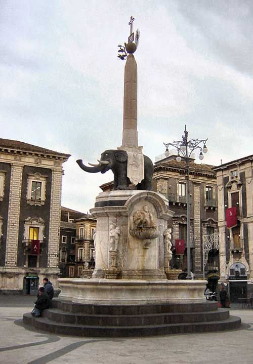 la Piazza Duomo Catania