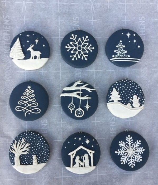 Blue and Whitie Christmas Ornaments | Crafting wit