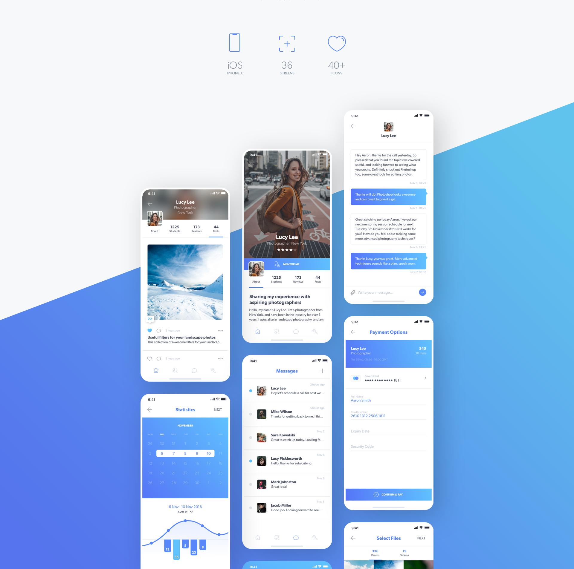 MentorMe UI Kit for Adobe XD on Behance   UI   mobile