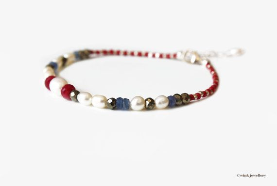Sapphire jewelry Delicate gold bracelet Red string bracelet Sapphire friendship bracelet Gift for her 14k gold friendship bracelet