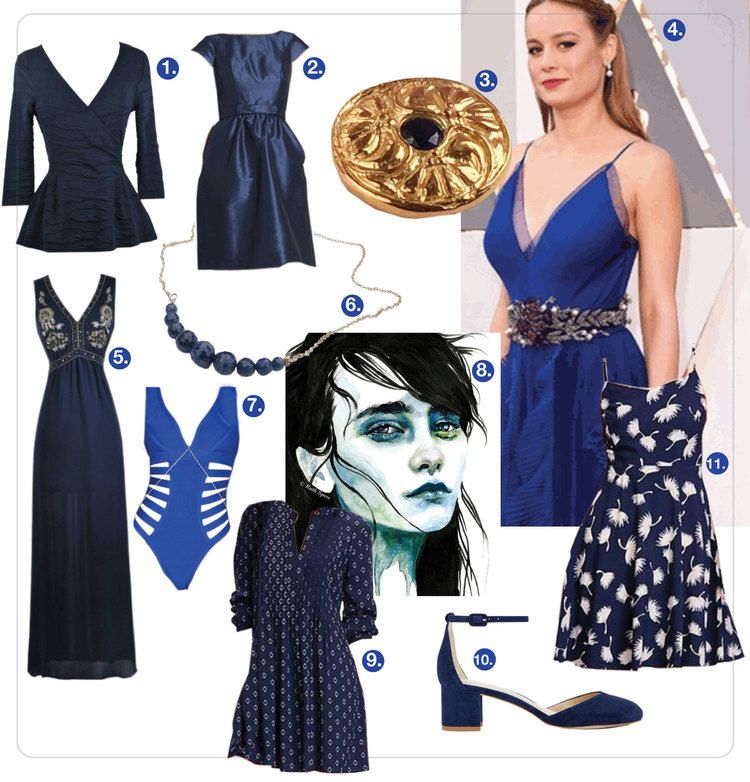 :: Sapphire blue clothing.A rich, jewel-tone blue helps us transition out of winter's gray and black clothing, prior to committing to this season's monotone trend. ::