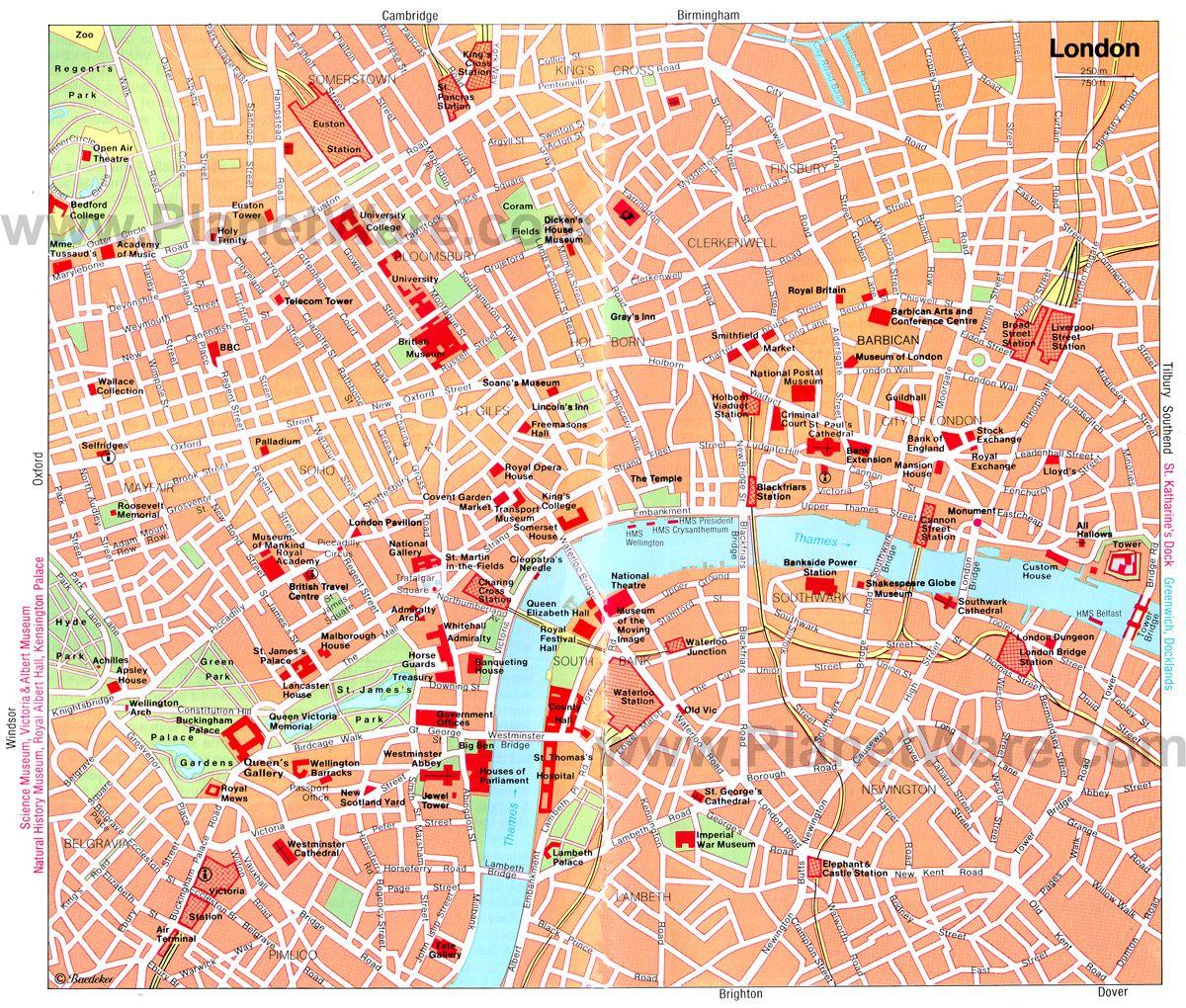 map of london city  london map england europe travel map  - map of london city  london map england europe travel map – tourist