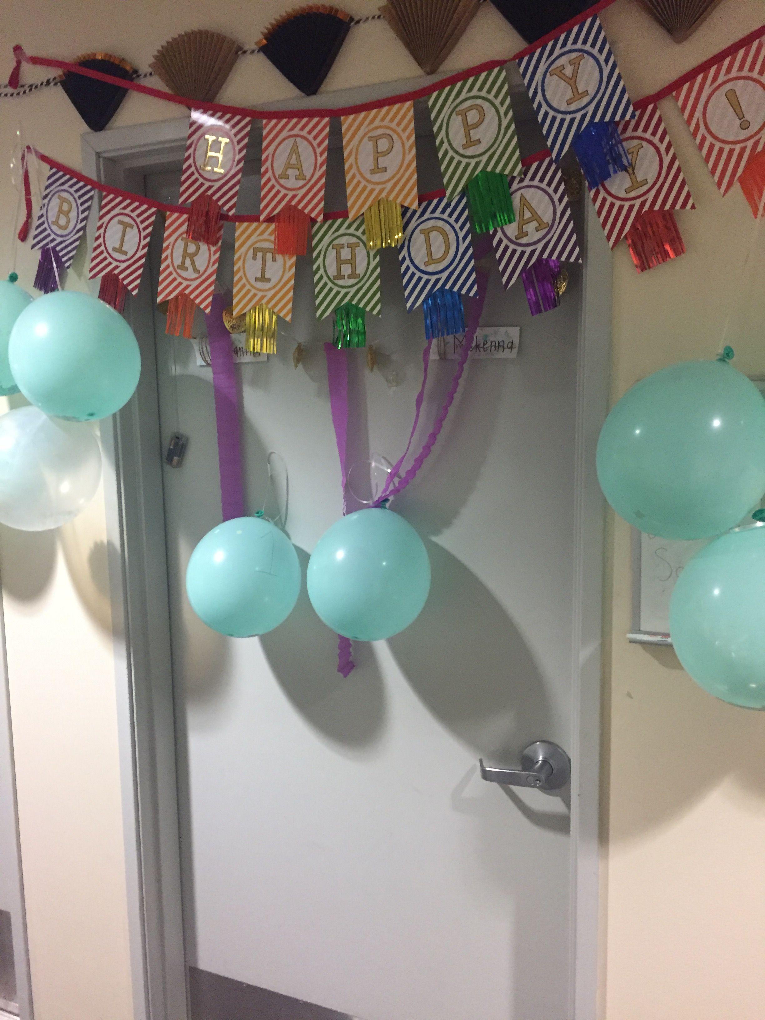 Decorate Your Door For Your Roommates Birthday Dorm Door Dorm Room Doors Girls Dorm Room