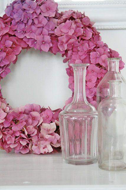 Pretty hydrangea wreath