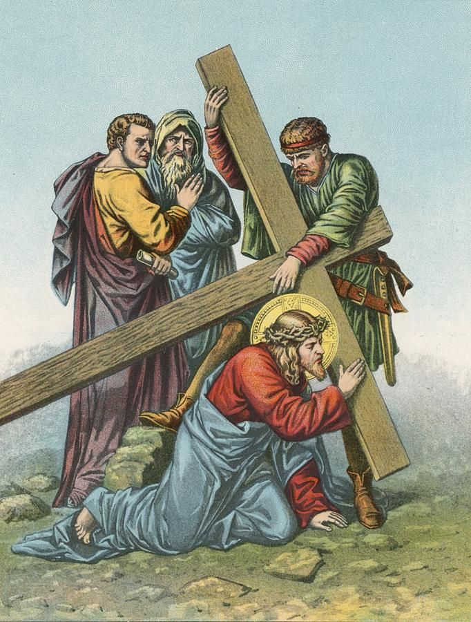 station-vii-jesus-falls-under-the-cross-the-second-time-english-school.jpg (682×900)