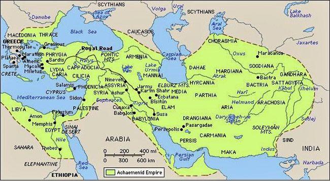 Persian Empire During Xerxes Reign Persian Empire Map Ancient Egypt Persian Empire