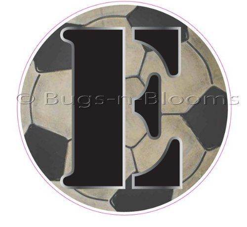 E Soccer Ball Alphabet Letter Name Wall Sticker 5 1 2 Diameter Baby Nursery Boys Sports Ro Boy Sports Room Decor Sports Themed Bedroom Girl Wall Letters