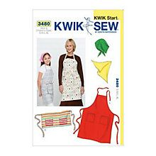 Buy Kwik Sew Learn-To-Sew Apron and Scarf Sewing Patterns, 3480 Online at johnlewis.com