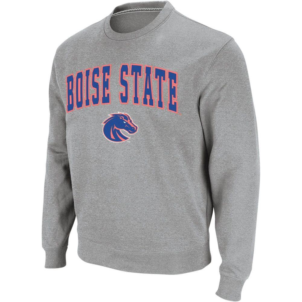 Men S Colosseum Heather Gray Boise State Broncos Arch Logo Crew Neck Sweatshirt In 2021 Sweatshirts Crew Neck Sweatshirt Lsu Sweatshirt [ 1000 x 1000 Pixel ]