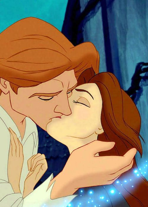 Day 5 Favorite Disney Kiss Beauty And The Beast When Hes Changing To A