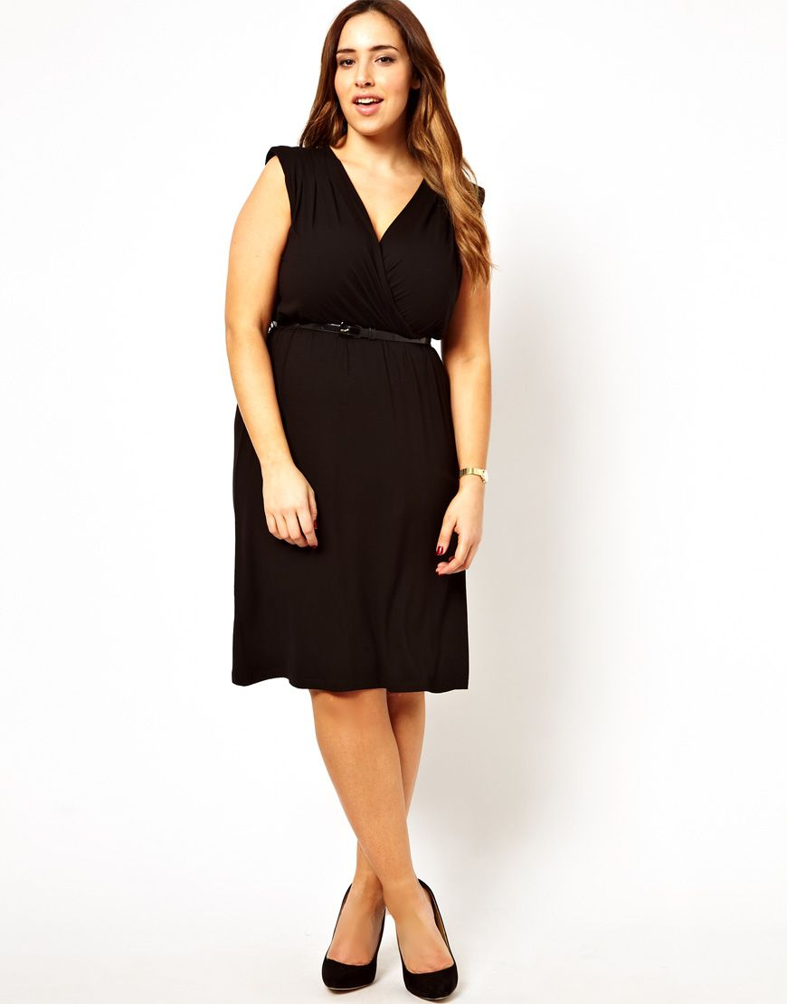 Curve Wrap Dress With Belt Full Figured And Fabulous Dresses