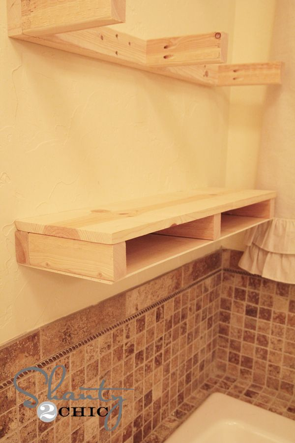 Easy diy floating shelves diy wood shelves shelf for Easy diy shelves