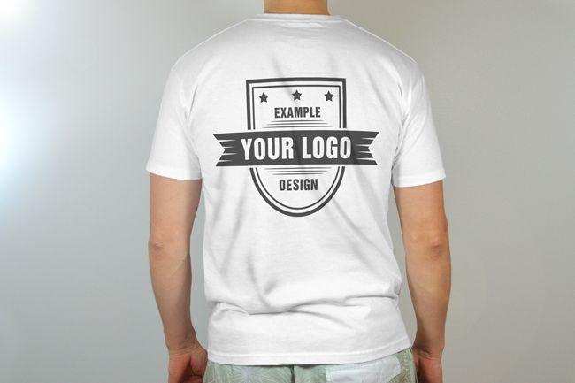 Download Men 39 S T Shirt Back View Mock Up Mediamodifier Online Mockup Generator Clothing Mockup Mens Tshirts Men
