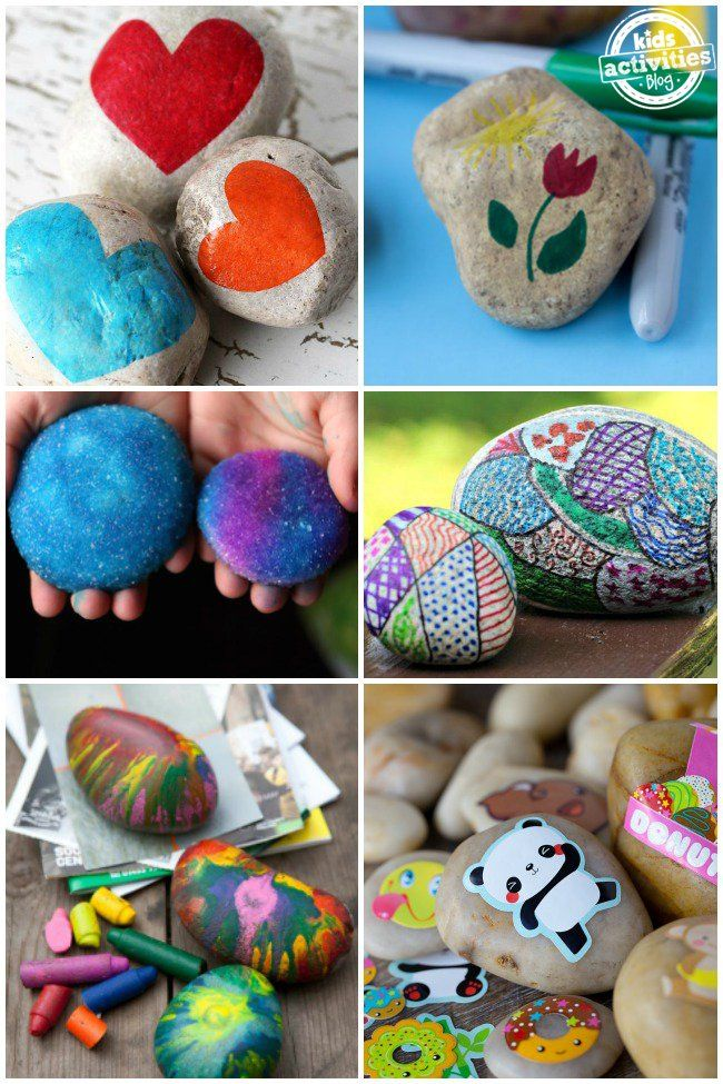 20 CRAZY FUN ROCK DECORATING IDEAS FOR KIDS   kids   Pinterest ...