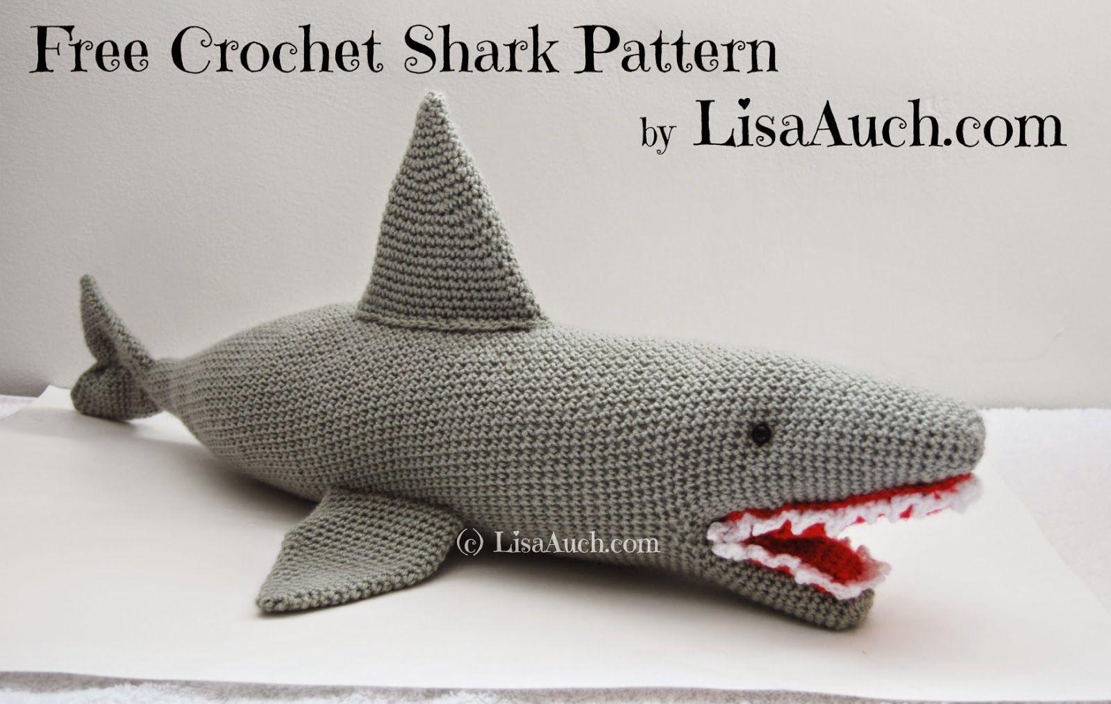FREE Crochet Shark Pattern | Crochet shark, Free crochet and Shark