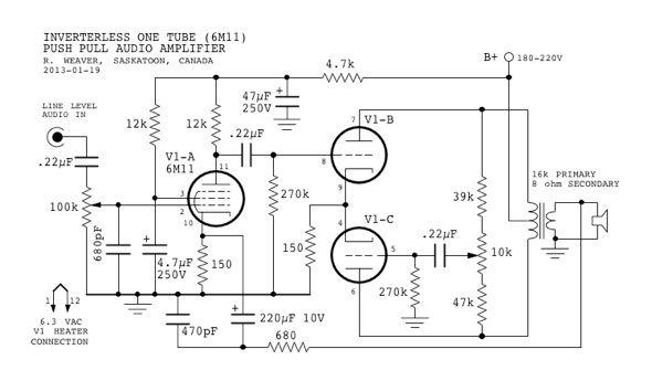 Mini-Tube Audio Amplifier - Part 1 | audio 2 | Pinterest ...