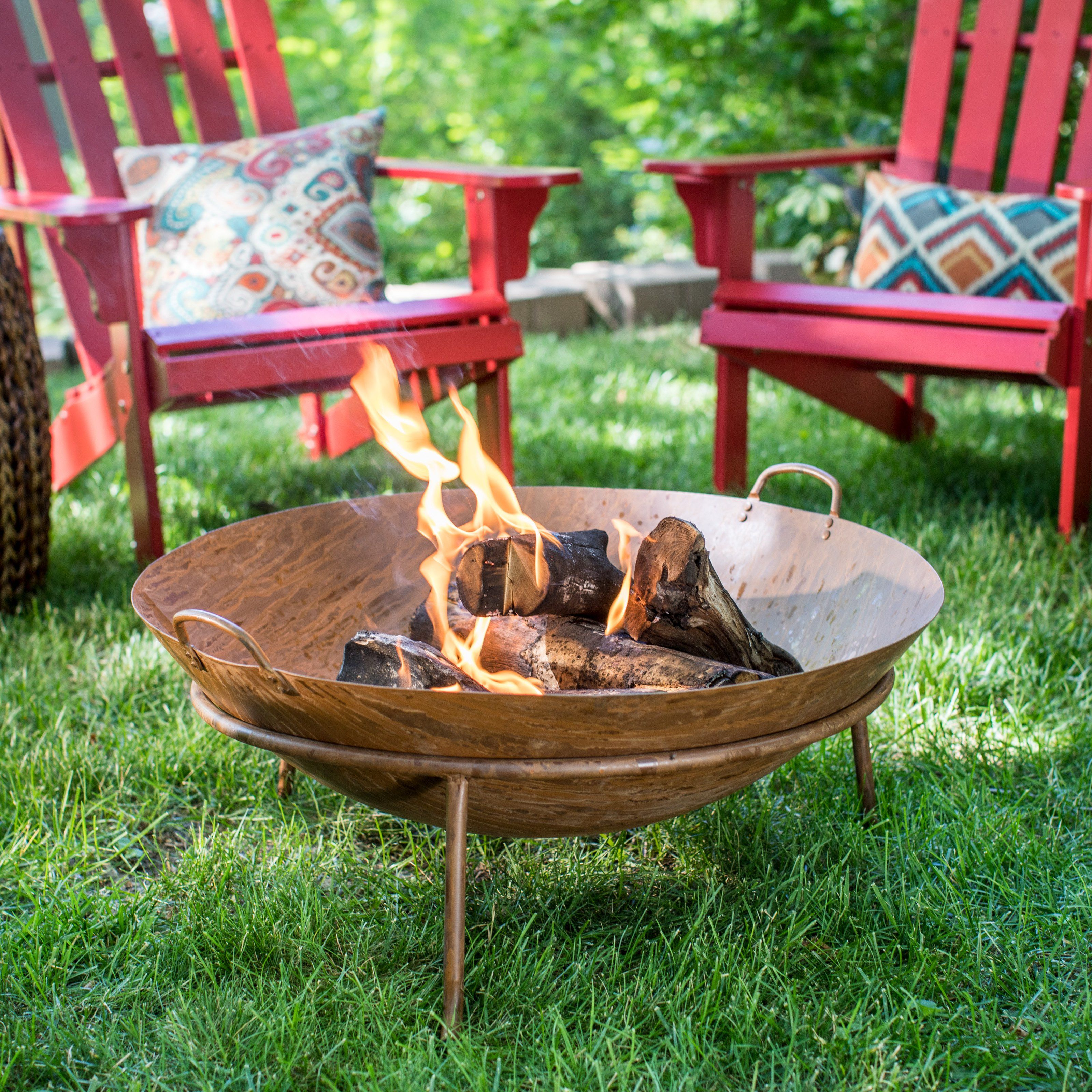 red ember santa fe 28 in wood burning fire bowl from hayneedle