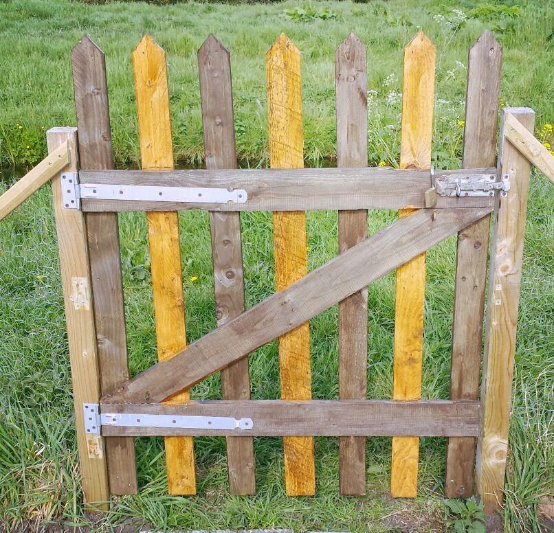 Geliefde Tuinhekje zelf maken van palets | Tuinhek maken - Garden, Fence en DIY #JZ71