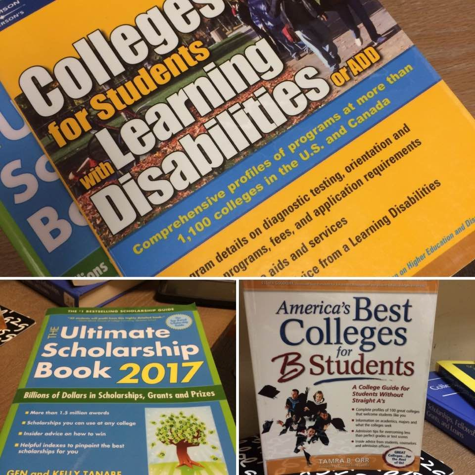 Over the #summer we add some new #collegebound and #scholarship #books to our B-Forc! Bookshelf.